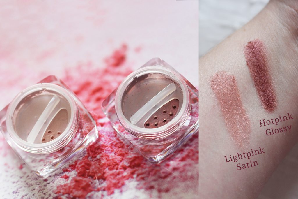 Angel Minerals Rouge Hotpink Glossy Lightpink Satin Blush Swatches
