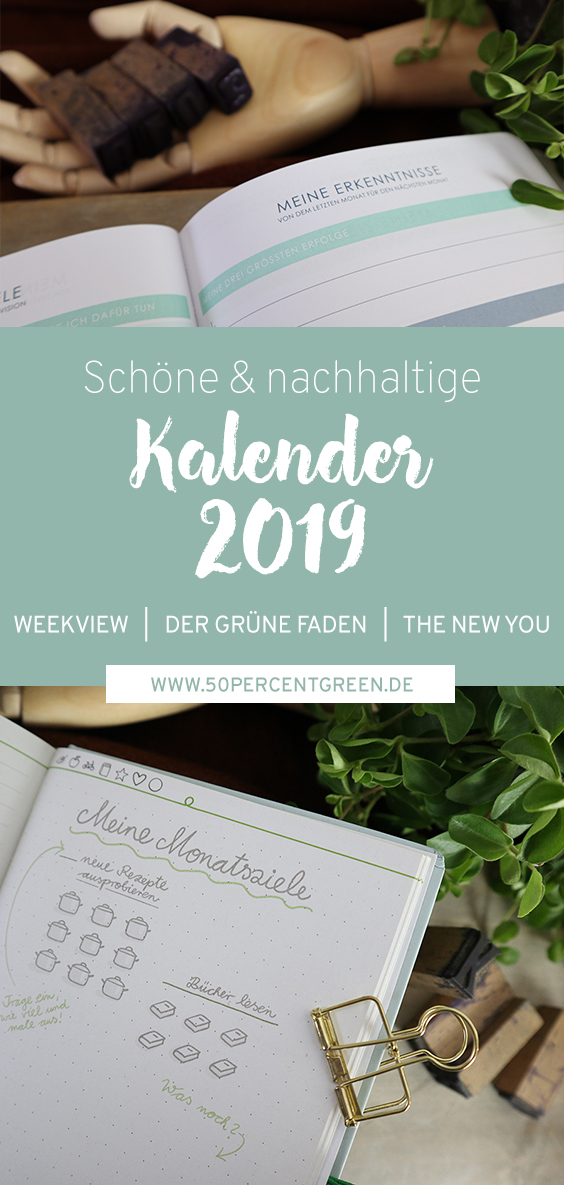 Kalender 2019 der grüne Faden the new you weekview Erfahrung Vergleich Review